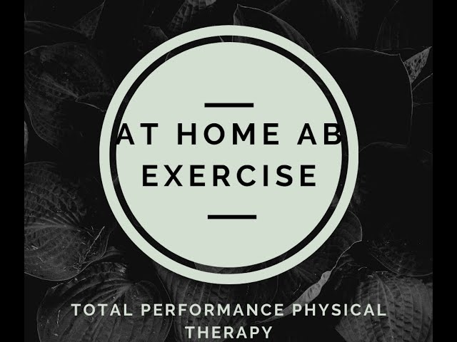 At Home Ab Exercise