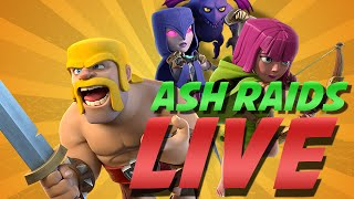 Clash Of Clans | PUSHING back to TITAN - Maintaining Resources + LIVE RAID!