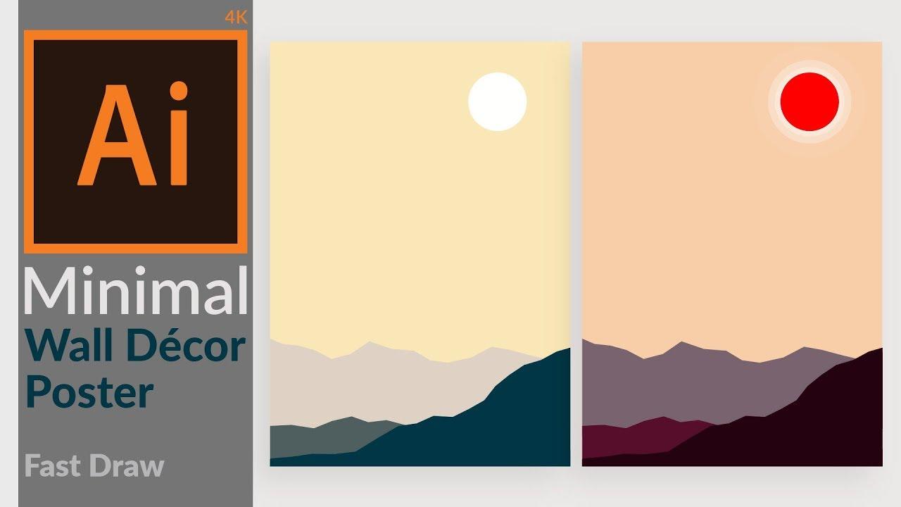 Minimal Landscape artwork for Wall Decoration Design in Adobe ...