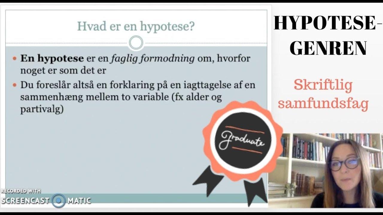 Genreguide: Hypoteser i skr. samfundsfag