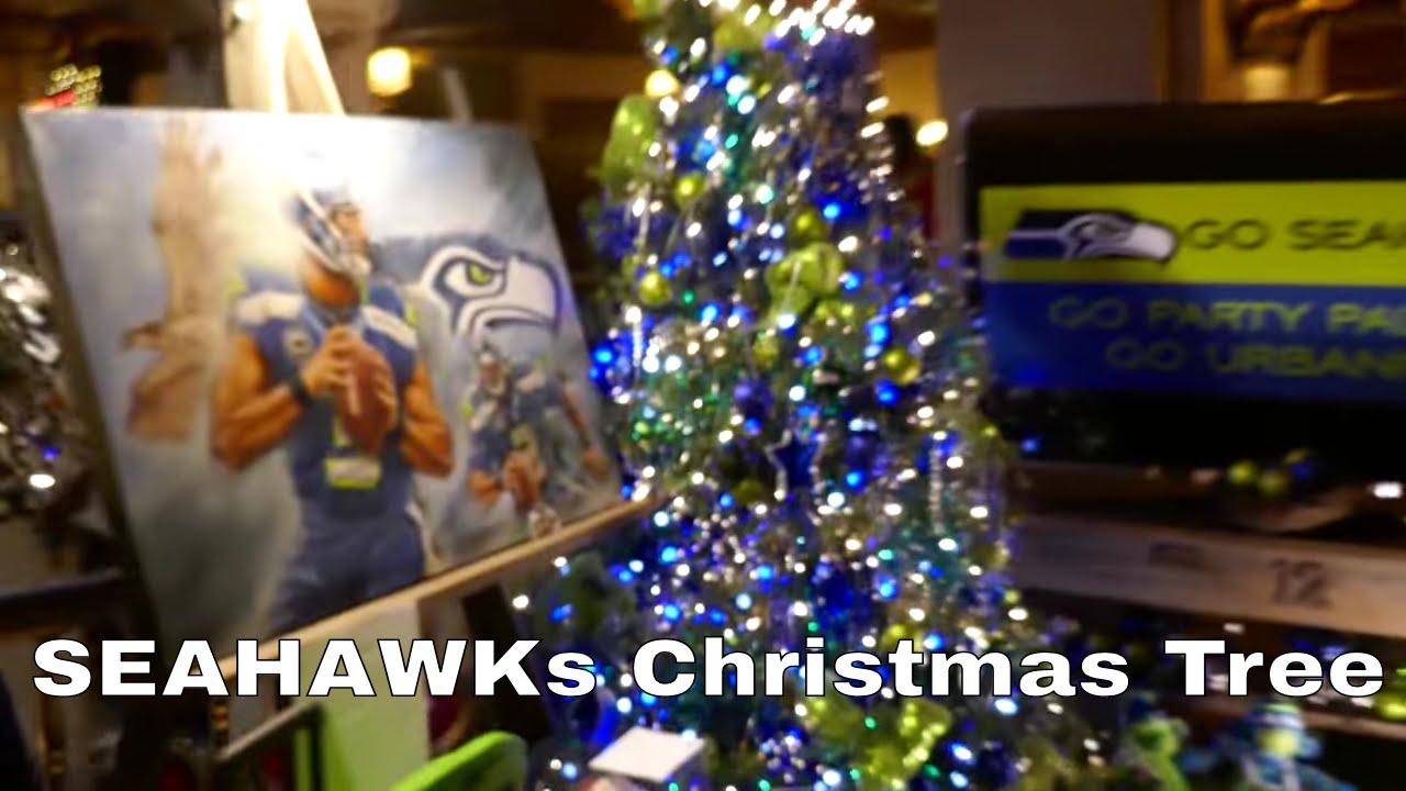 Seahawks Christmas Tree.Seattle Seahawks Christmas Tree In 4k Video