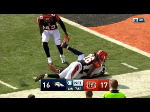 Trevor Siemian Hits Emmanuel Sanders to Set Up Phillips TD Catch! | Broncos vs. Bengals | NFL