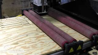 Roller Hold Down Plywood Furniture Frame Parts On Cnc Router By C.r. Onsrud