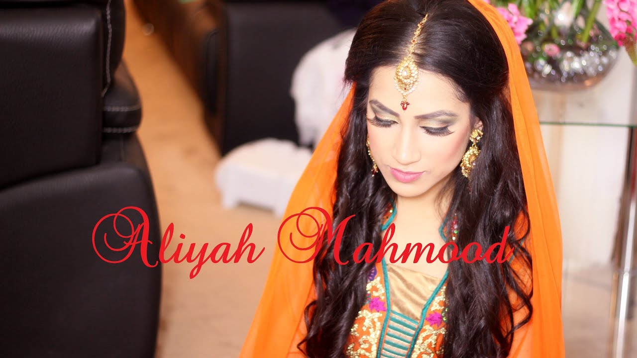 Mehndi Hairstyles For Brides : Mehndi bridal hair and makeup by aliyah m hd youtube