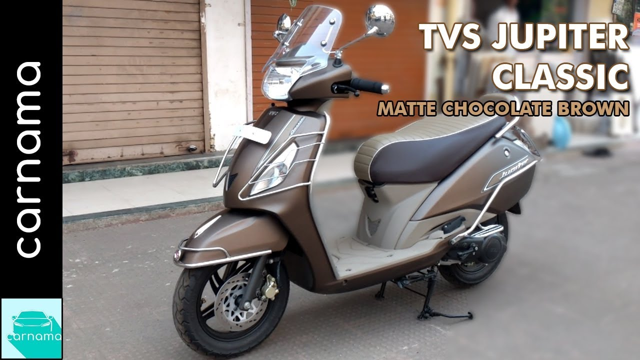 Tvs Jupiter Classic Autumn Brown Colour Review Features Exhaust