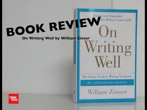 BOOK REVIEW: On Writing well by William Zinsser