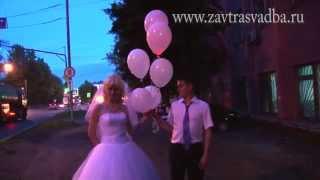 Воздушные шарики со светодиодами на свадьбе в Клину