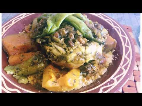 couscous-marocain-poulet-tfaya-/-moroccan-couscous