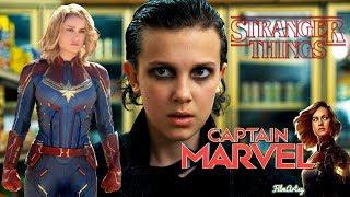 Captain Marvel Official Trailer   Stranger Things Version   Brie Larson & Millie Bobby Brown