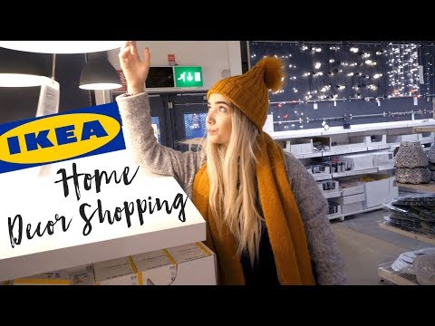 HOME DECOR SHOPPING AT IKEA! MOVING VLOG #2
