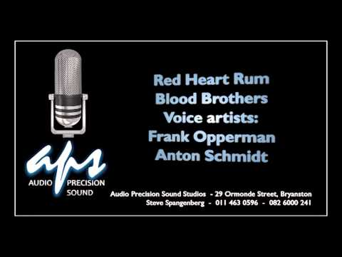 Red heart rum Bloodbrothers with Frank Opperman and Anton Schmidt