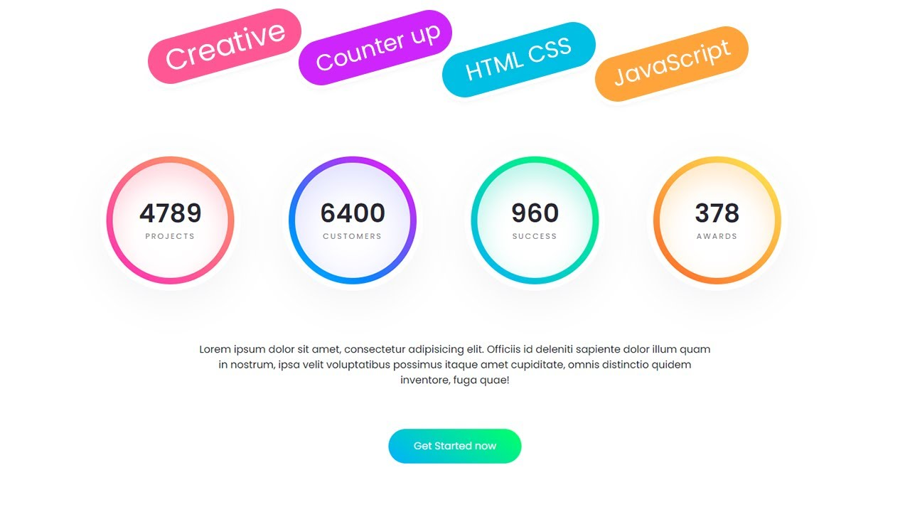 How to make Counter Up Effect for Latest Web Design Template in HTML CSS JQuery