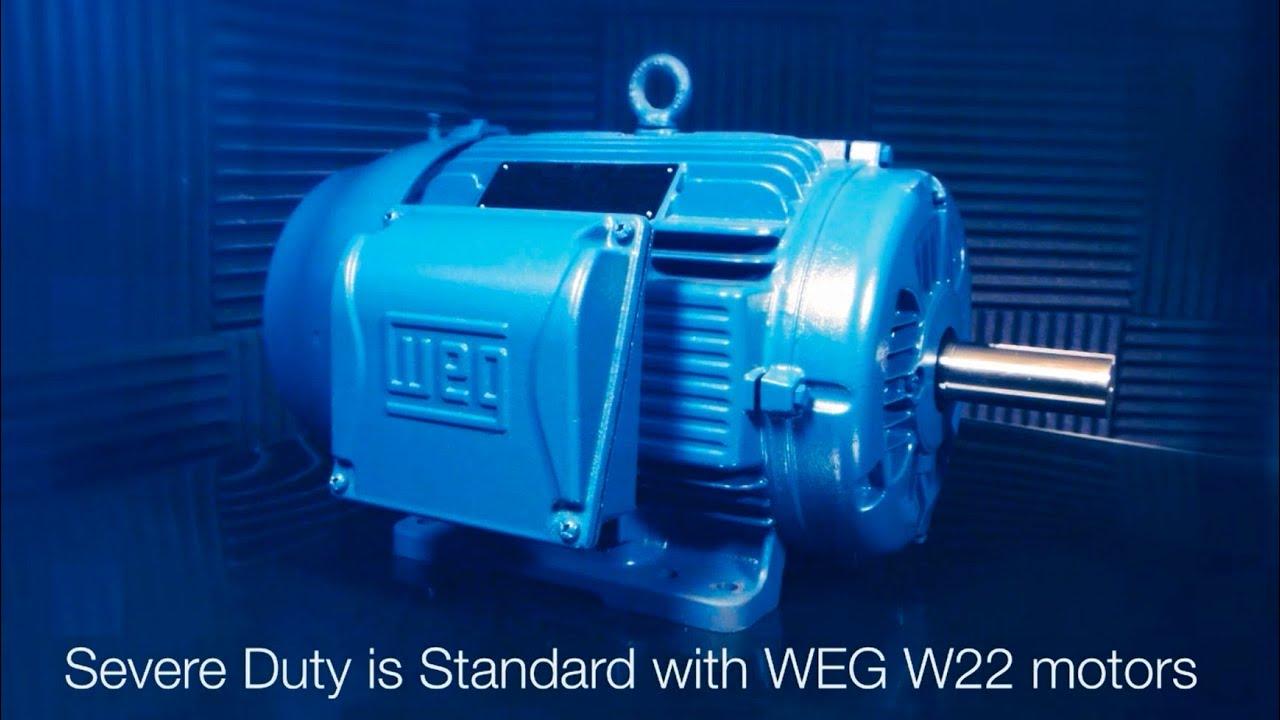 Weg w22 severe duty youtube for Weg severe duty motor