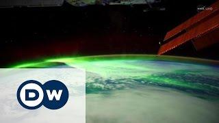 Северное сияние из космоса(Северное сияние можно наблюдать не только на Земле, но и в космосе. НАСА опубликовала кадры, снятые с Междун..., 2016-04-26T17:09:01.000Z)