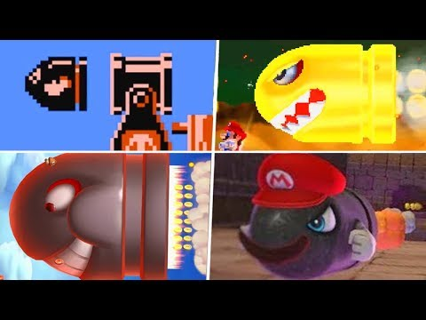 Evolution Of Bullet Bill Characters In Super Mario Games (1985 - 2019)