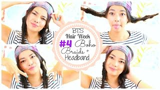 BOHO BRAIDS AND HEADBAND ♡ Back to School HAIR WEEK♡ 50VoSummer Thumbnail