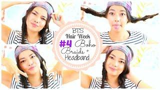 BOHO BRAIDS AND HEADBAND ♡ Back to School HAIR WEEK♡ 50VoSummer Thumbnail