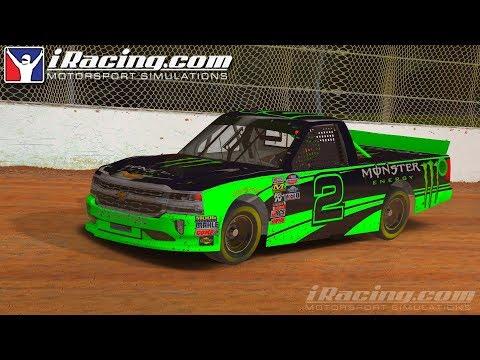 Iracing Truck Series At Eldora Speedway-Dirt Racing At Night
