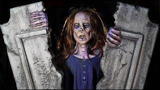 Zombie Animatronic Graveyard Haunted Cemetery Halloween Prop