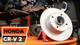 Τοποθέτησης Τακάκια Φρένων εμπρος και πίσω HONDA CR-V: εγχειρίδια βίντεο