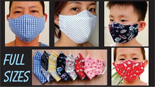 FULL SIZES For Your Family PERFECT 3D Face Mask Breathable No Fog On Glasses Best Fit Mask
