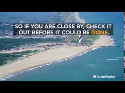 New island rises off coast of North Carolina