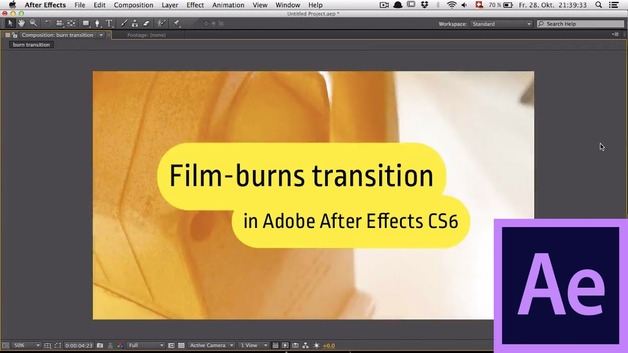 After Effects Film Burns Transition Tutorial Youtube