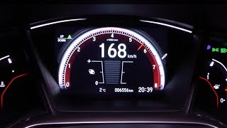 2017 Honda Civic 1.5 VTEC TURBO 182 HP 0-100 km/h & 0-100 mph Acceleration