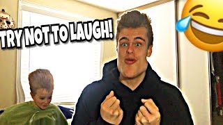 WATCHING FUNNY VIDEOS WITH MY BRO!