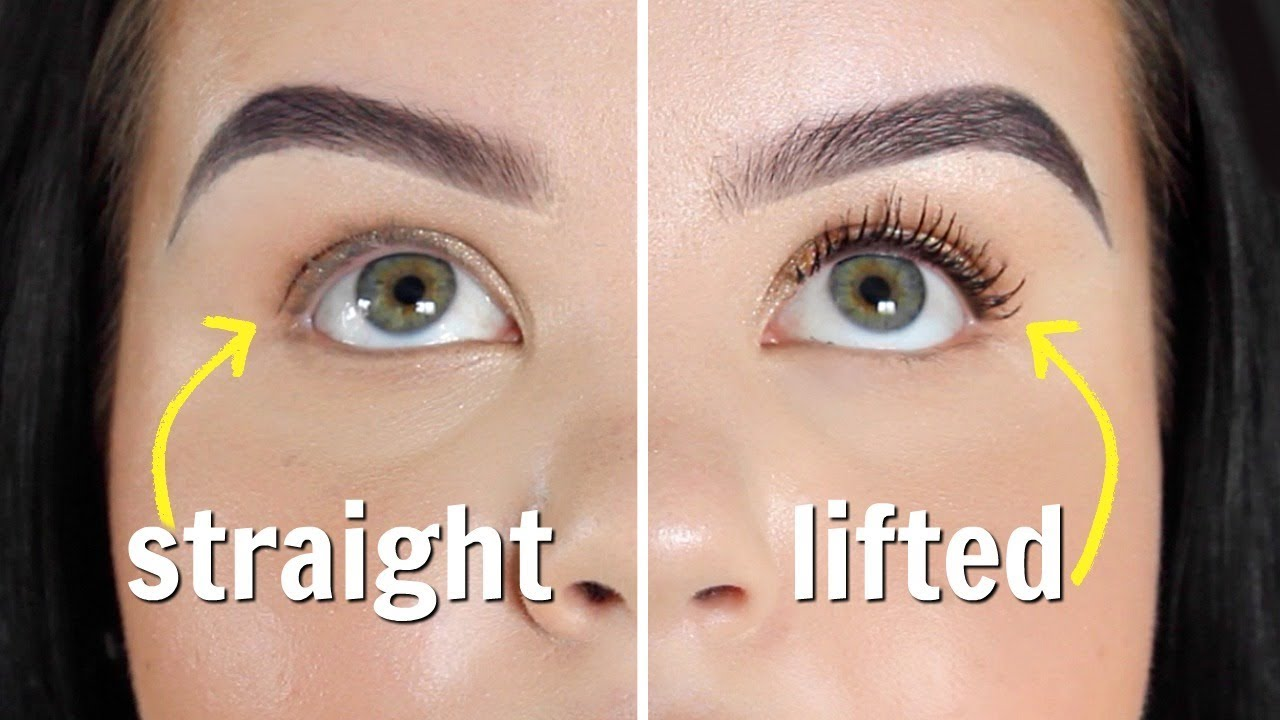 how to deal with straight eyelashes   review + demo - YouTube