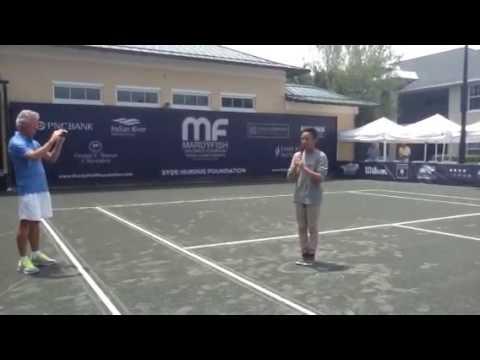 "Micah Nalzaro Sings ""America The Beautiful"" at Vero Beach USTA Pro Circuit Event"