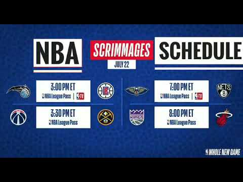 NBA TV to televise 16 scrimmages leading up to season restart