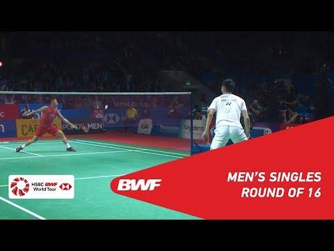 R16   MS   CHOU Tien Chen (TPE) [4] Vs. LIN Dan (CHN)   BWF 2019