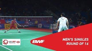 R16 | MS | CHOU Tien Chen (TPE) [4] vs. LIN Dan (CHN) | BWF 2019
