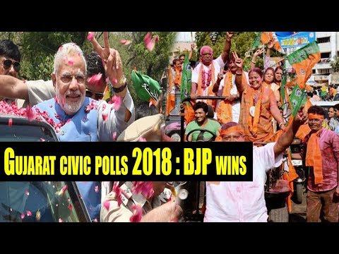 Gujarat Local Body Election 2018   BJP wins 44   Congress 13