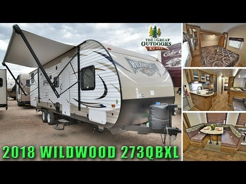New 2018 WILDWOOD 273QBXL Front Bedroom Rear Bunk House Travel Trailer RV