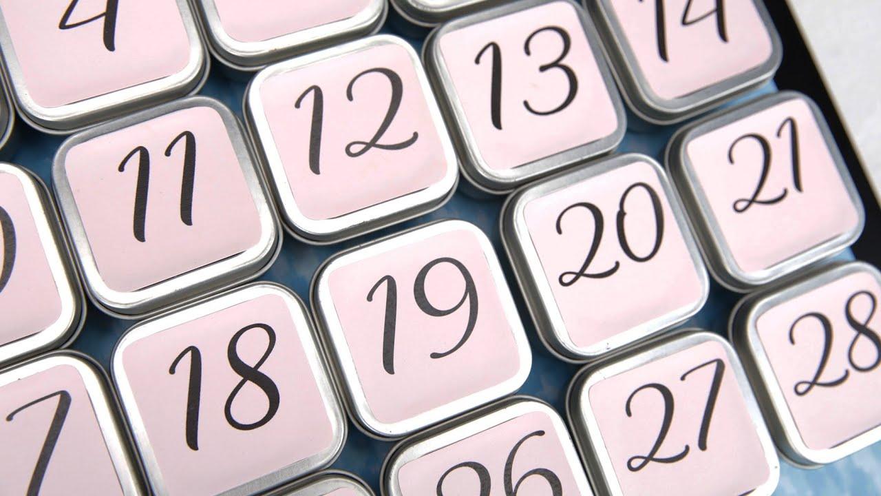 Self Made Advent Calendar : January self care advent calendar youtube