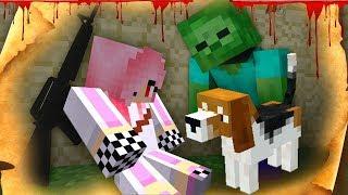 Спасла Маленького Щенка от Зомби - Зомби апокалипсис в Майнкрафт! (Minecraft - Сериал)