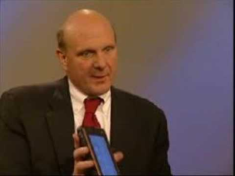 Steve Ballmer with HTC SHIFT UMPC