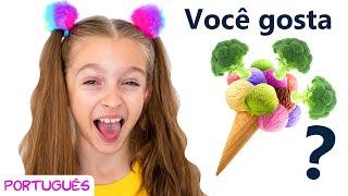 Você gosta de sorvete de brócolis? Canção infantil de Sunny Kids Songs