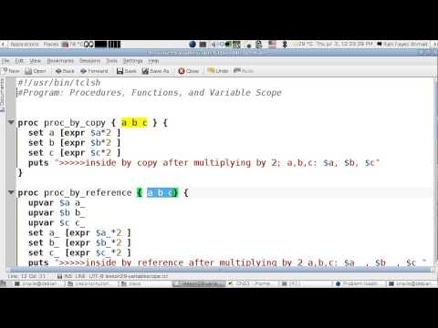 Tcl/Cisco Lesson 29 : Variable Scope (English Version)