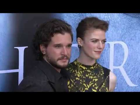 Kit Harington and Rose Leslie at the Game of Thrones Season 7 premiere