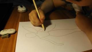 Поэтапное рисование феи
