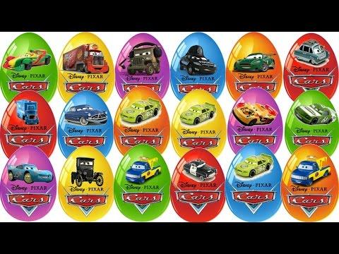 20 Surprise Eggs Disney Pixar Cars 2 Яйца с сюрпризом Киндер сюрпризы Тачки 2 Animation
