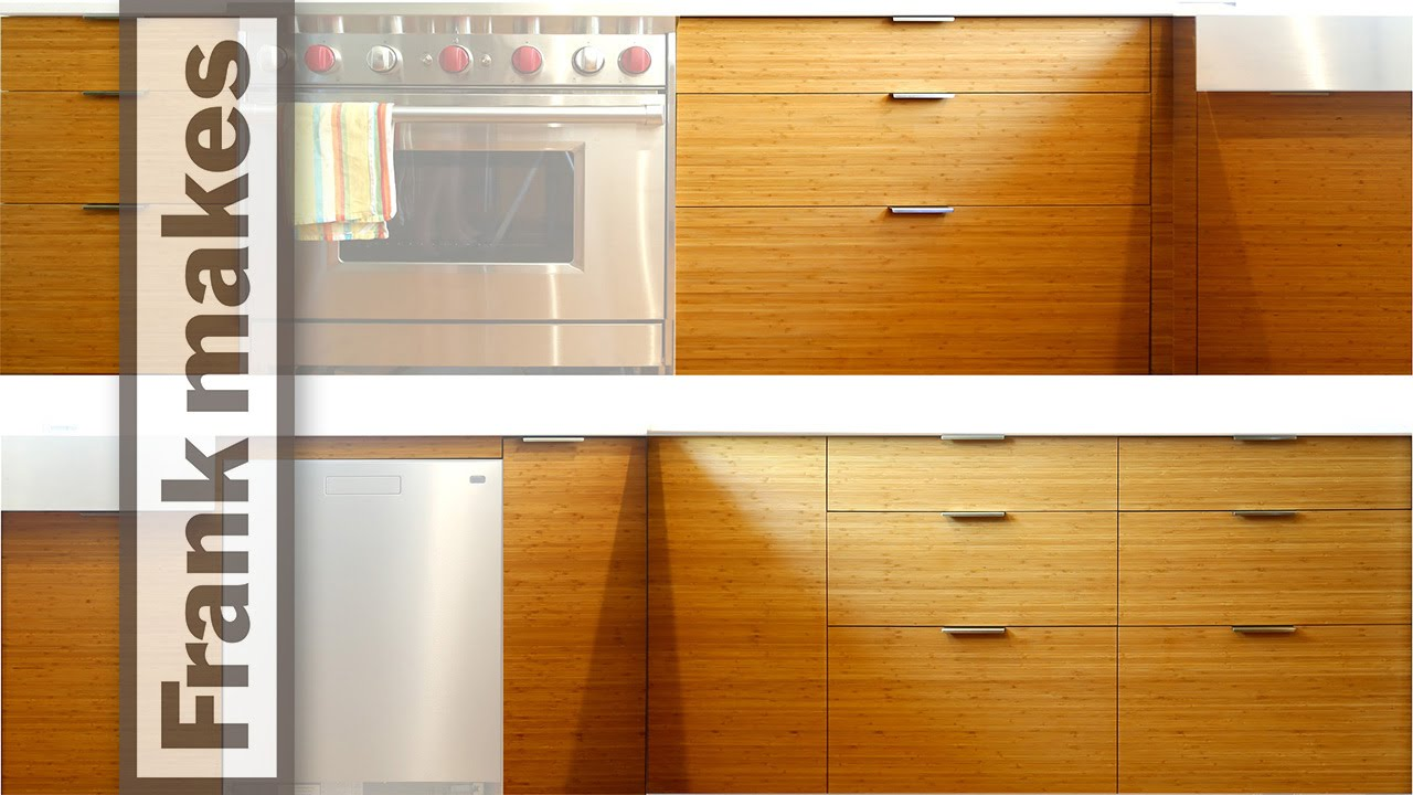 Kitchen Drawer Fronts kitchen remodel: part 12 - bamboo door and drawer fronts - youtube