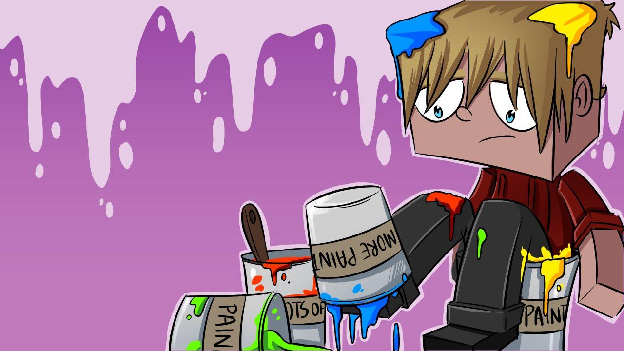 Minecraft Paint Run War Minecraft Colour Run Mini Game W Lachlan