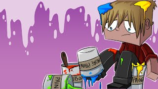 Minecraft Paint Run War! (Minecraft Colour Run Mini-Game) w/ Lachlan