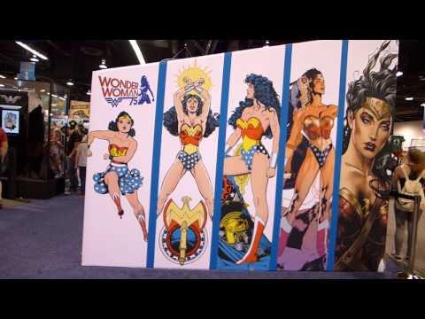 Full Wonder Woman DC Comics Booth Tour at WonderCon 2017!