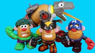Rescue Bots Mr. Potato Head Hulk Wolverine Spider-man Captain America