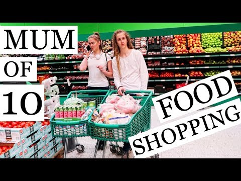 MOM OF 10 FOOD SHOPPING / LARGE GROCERY HAUL